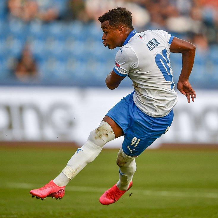 Utkání 4. kola první fotbalové ligy: FC Baník Ostrava - FK Pardubice, 19. září 2020 v Ostravě. Dyjan Carlos De Azevedo z Ostravy.