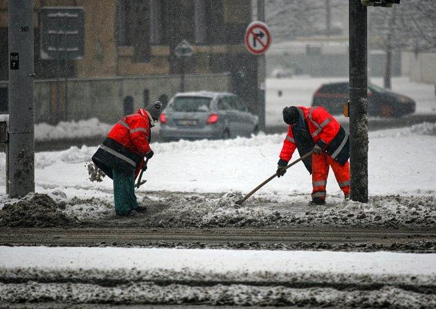 Sněhová nadílka vOstravě, únor 2017.
