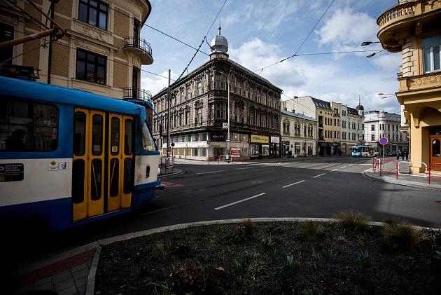 Nádražní ulice vOstravě, březen 2019.Ilustrační foto.
