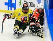 Olympijský festival u Ostravar Arény, 14. února 2018. Sledge hokej, utkání mezi Studénkou a Zlínem