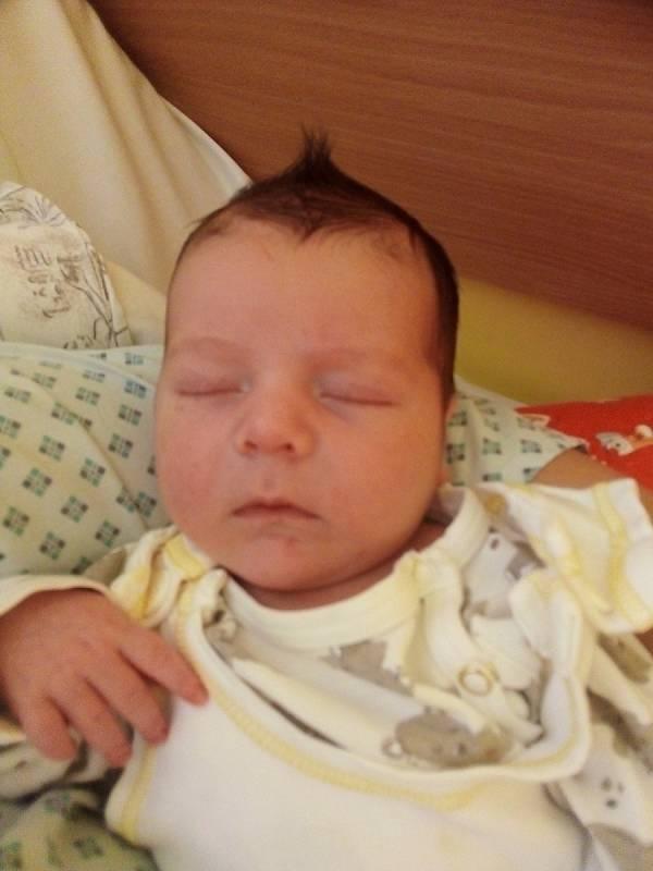 William Koštoval, Krnov, narozen 7. září 2021 v Krnově, váha 3860 g, míra 49 cm. Foto: Pavla Hrabovská