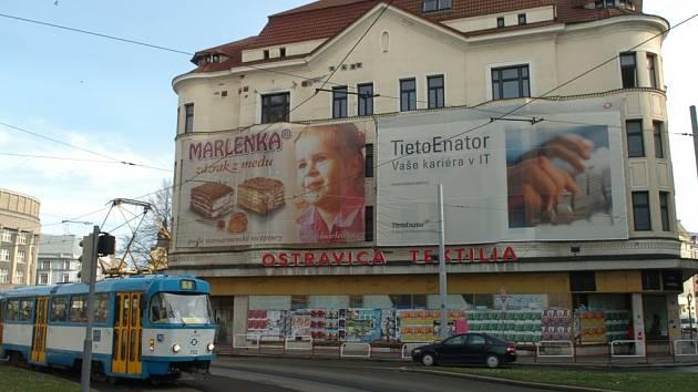Obchodní dům Ostravica v centru Ostravy