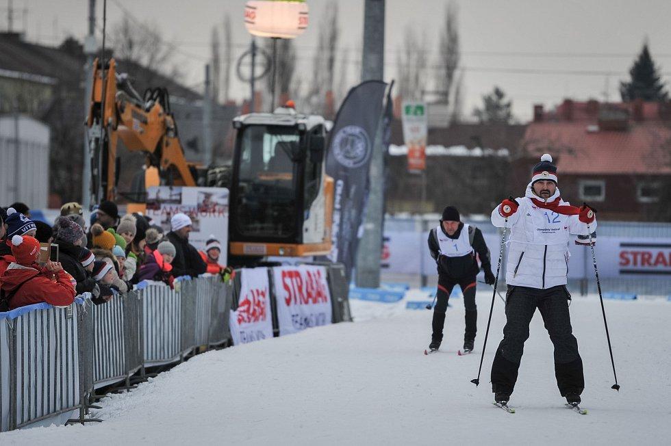 Olympijský festival u Ostravar Arény, 18. února 2018 v Ostravě. (vpravo) David Moravec.