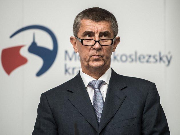 Andrej Babiš na výjezdním zasedání vlády v Ostravě.