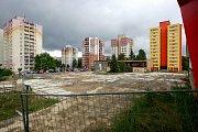 Zbourané nákupní centrum Odra v Ostravě-Výškovicích - rok 2015.