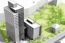 Budova plánovaná pro náměstí Republiky v Ostravě