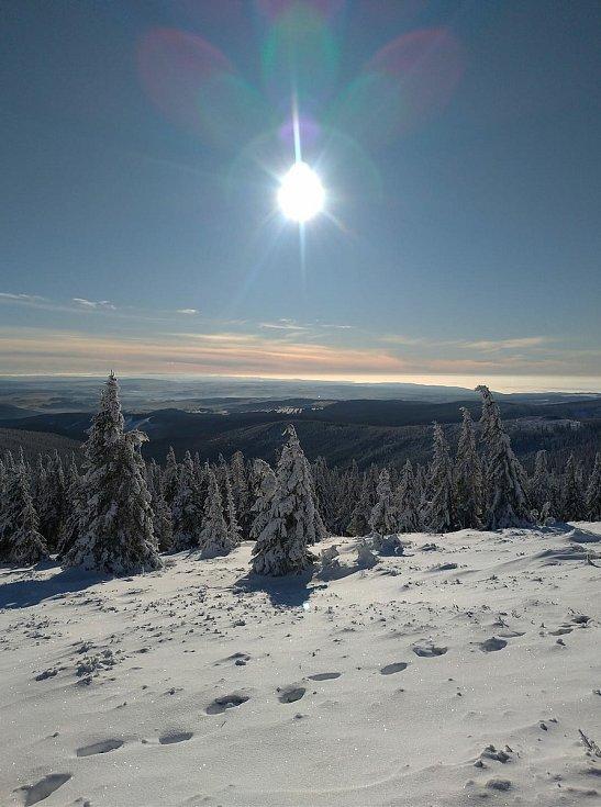 Snímek z oblasti nad Velkým Kotlem poslal Kamil Josefus.