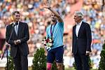 56. ročník atletického mítinku Zlatá tretra, který se konal 28. června 2017 v Ostravě. Na snímku (uprostřed) Vítězslav Veselý.