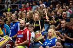 Utkání mistrovství Evropy volejbalistů - osmifinále: ČR - Francie, 13. září 2021 v Ostravě. Fanoušci.