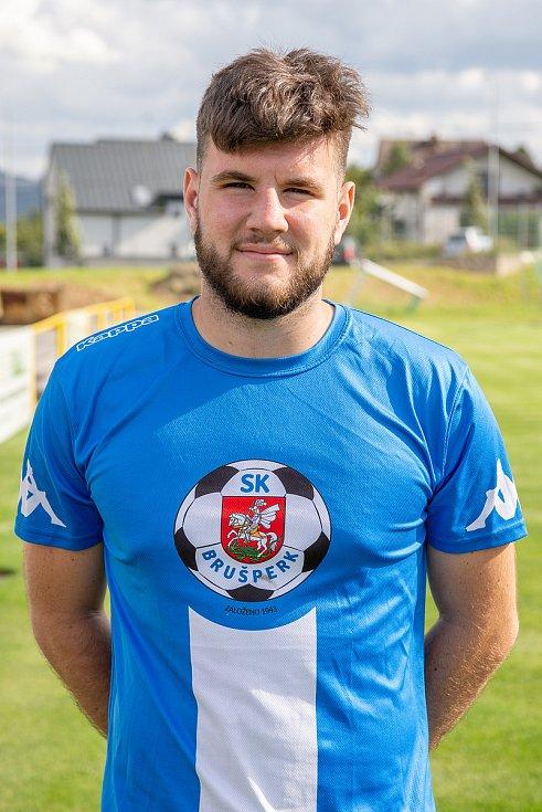 Fotbalový klub - Spolek SK Brušperk, 26. srpna 2020 v Brušperku. Daniel Vrána (útočník)