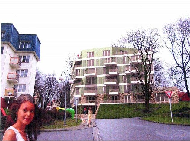 Vizualizace bytového domu plánovaného ve Slezské Ostravě