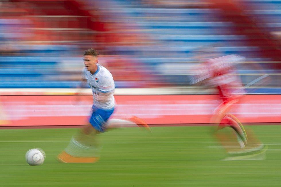 Utkání 4. kola první fotbalové ligy: FC Baník Ostrava - FK Pardubice, 19. září 2020 v Ostravě. Ondřej Šašinka z Ostravy.