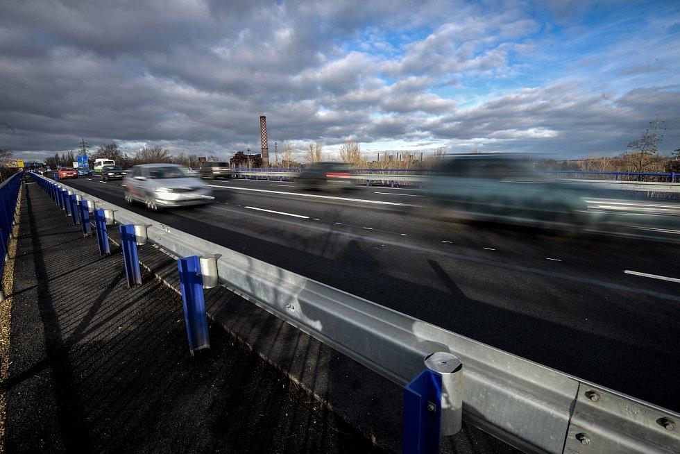 Otevřené mosty na Rudné ulici, 10. prosince 2018 v Ostravě.