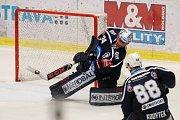 Utkání 30. kola hokejové extraligy: HC Vítkovice Ridera - HC Škoda Plzeň, 28. prosince 2018 v Ostravě. Na snímku brankář Plzně Dominik Frodl.