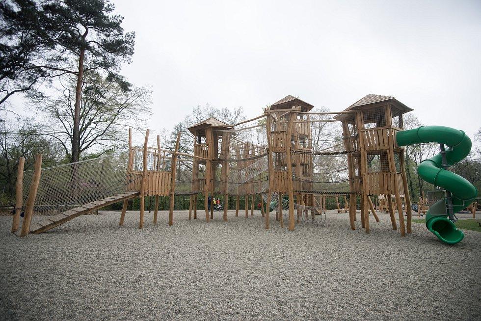 Nově dětské hřiště v ZOO Ostrava, 17. dubna 2018 v Ostravě.