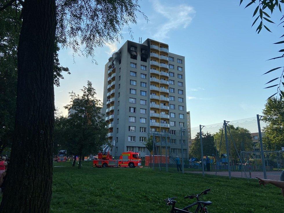 Bohumín, tragický požár v Nerudově ulici, 8. srpna 2020.