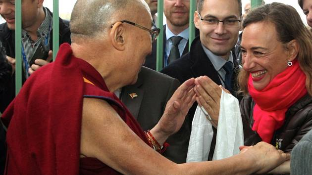 Setkání s jeho svatostí dalajlamou.