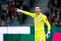Jiří Pavlenka chytá německou Bundesligu za Werder Brémy.