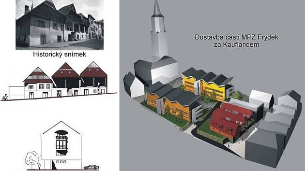 Kupecké domy na historickém snímku