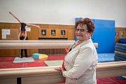 Na snímku Adolfína Tačová, provdaná Tkačíková, bývalá československá sportovní gymnastka, držitelka stříbrné medaile v soutěži družstev žen z LOH 1960 a LOH 1964, duben 2019 v Ostravě.