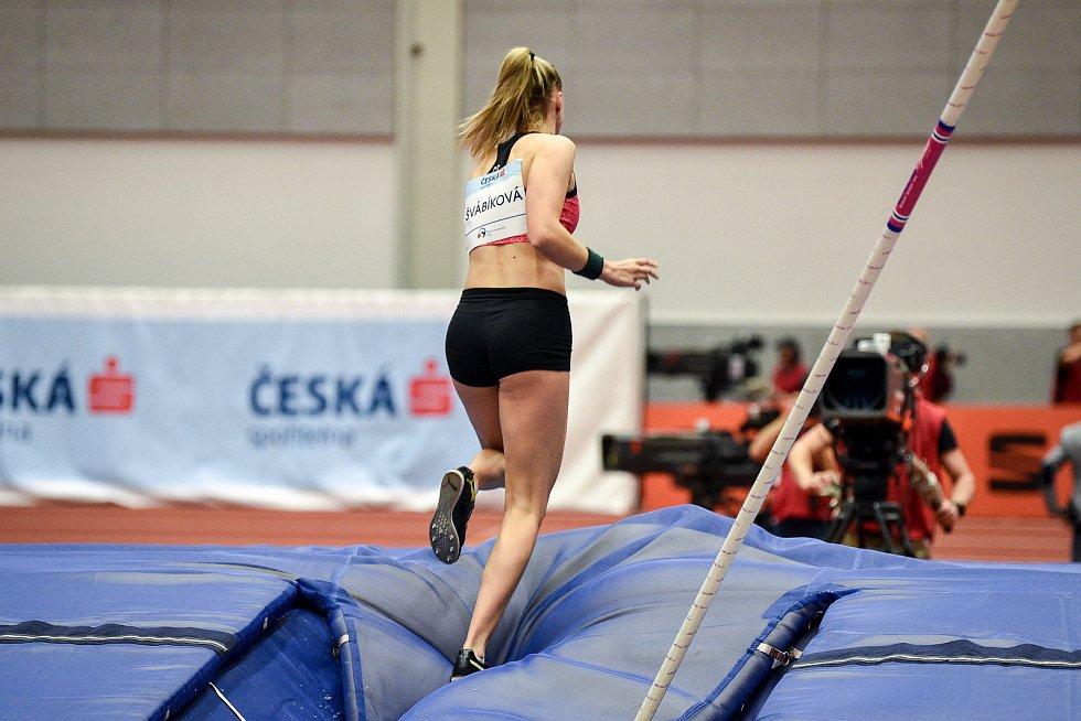 Mezinárodní halový atletický mítink Czech Indoor Gala 2020, 5. února 2020 v Ostravě. Skok o tyči, ženy Amálie Švábíková z Česka.