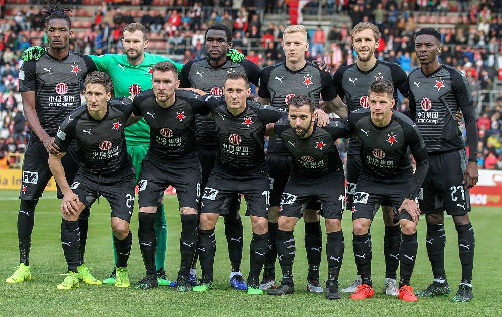 Finále fotbalového poháru MOL Cupu, Baník Ostrava - Slavia Praha 22.května 2019 v Olomouci. Na snímku Slávia Praha.