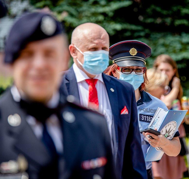 Děkovný koncert Hudby Hradní stráže a Policie České republiky lidem v první linii, 12. června 2020 u Fakultní nemocnice v Ostravě.
