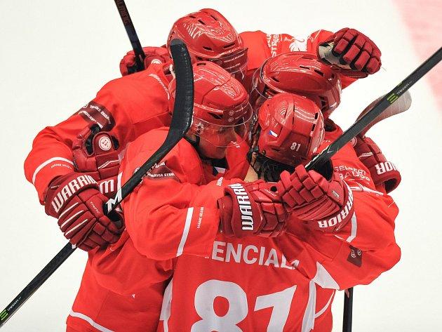 Odvetné utkání osmifinále play off hokejové Ligy mistrů: HC Oceláři Třinec vs. Malmö.