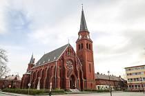 Kostel na Mírovém náměstí v Ostravě-Vítkovicích.