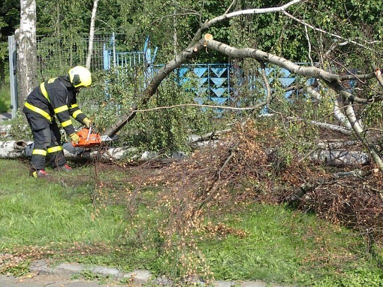 Zásah hasičů v Krnově.