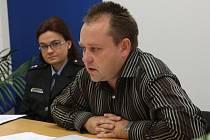 Kriminalista Radim Bena na středeční tiskové besedě informoval o objasnění červencového výbuchu.