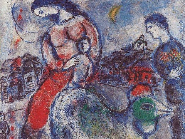 Ukázka z tvorby Marka Chagalla.