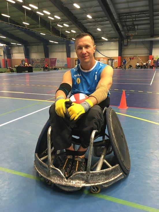 PAVEL ERMIS, ragbista na vozíku ze Sedlnic na Novojičínsku, hájí barvy SK Ostrava.