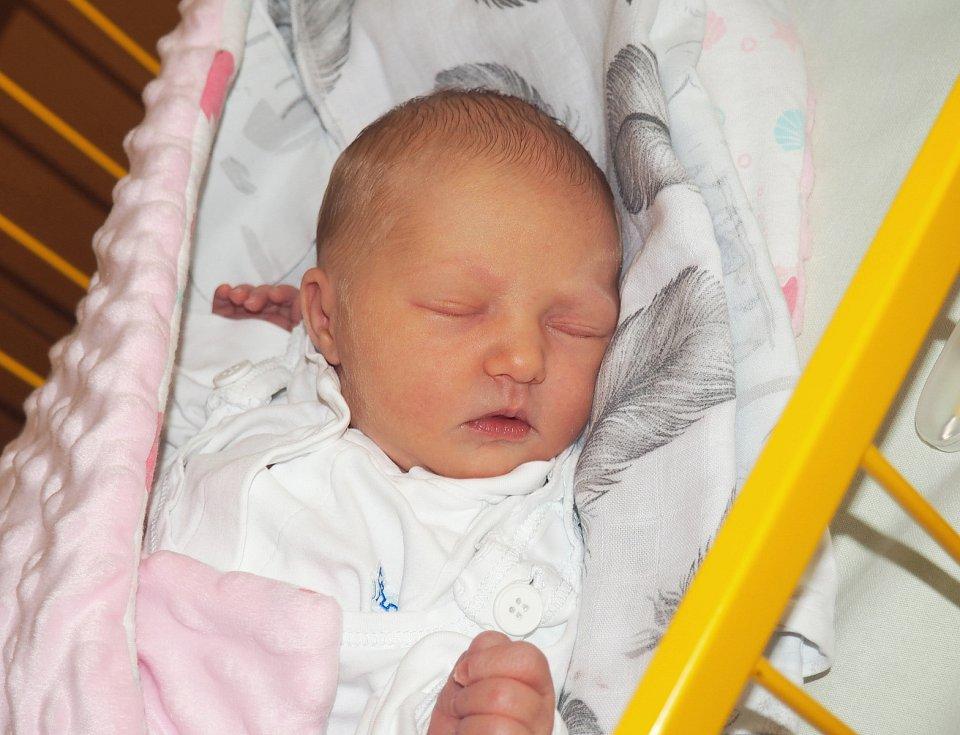 Vivien Hromas se narodila 14. 9. 2020, vážila 3300 g a měřila 49 cm. Bydliště Orlová. Fakultní nemocnice Ostrava. Foto: J. Gojová