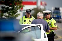 Dopravně bezpečnostní akce na dálnici D1 u Klimkovic, 30. srpna 2019 v Ostravě.