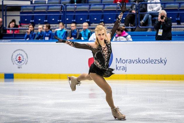 Mezinárodní mistrovství ČR vkrasobruslení vOstravar Aréně, 14.prosince 2019vOstravě. Na snímku Eliška Březinová.