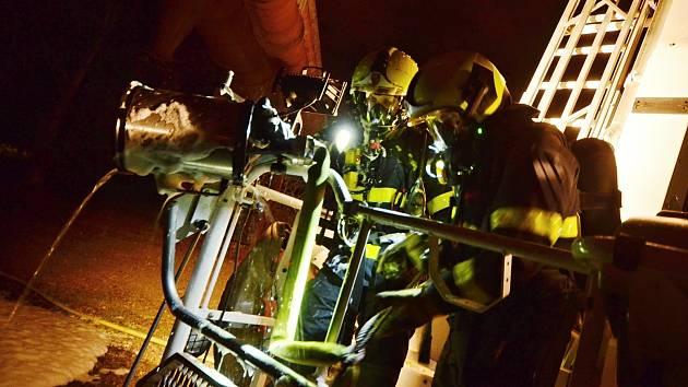 Zásah hasičů v Dolní oblasti Vítkovic.