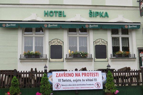 Štramberští podnikatelé vsobotu na protest zavřeli své provozovny.