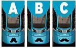 Ostravské tramvaje Stadler nOVA si i letos nechaly narůst tři druhy knírů a vezou osvětu proti mužské rakovině!