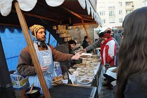 Vánoční trhy v centru Ostravy. Rozsvícen byl také vánoční strom.