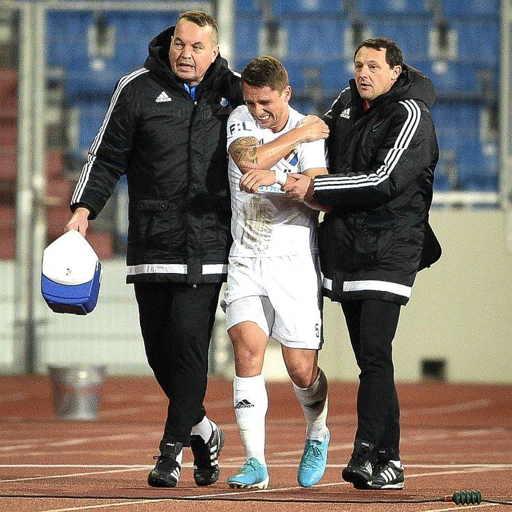 Utkání 22. kola první fotbalové ligy: Baník Ostrava - FK Jablonec, 24. února 2020 v Ostravě. Střed Adam Jánoš z Ostravy.