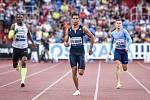 56. ročník atletického mítinku Zlatá tretra, který se konal 28. června 2017 v Ostravě. Na snímku (zleva) Makwala, Van Niekerk, Maslák.