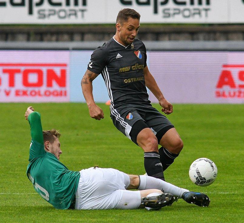 FORTUNA:LIGA - Skupina o titul, 5. kolo - FK Jablonec - FC Baník Ostrava, 8. července 2020 v Jablonci. Adam Jánoš
