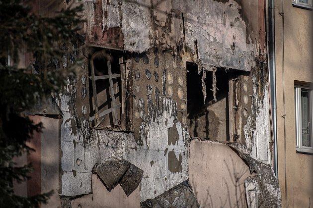 Exploze bytu vdomě vOstravě-Hrabůvce.
