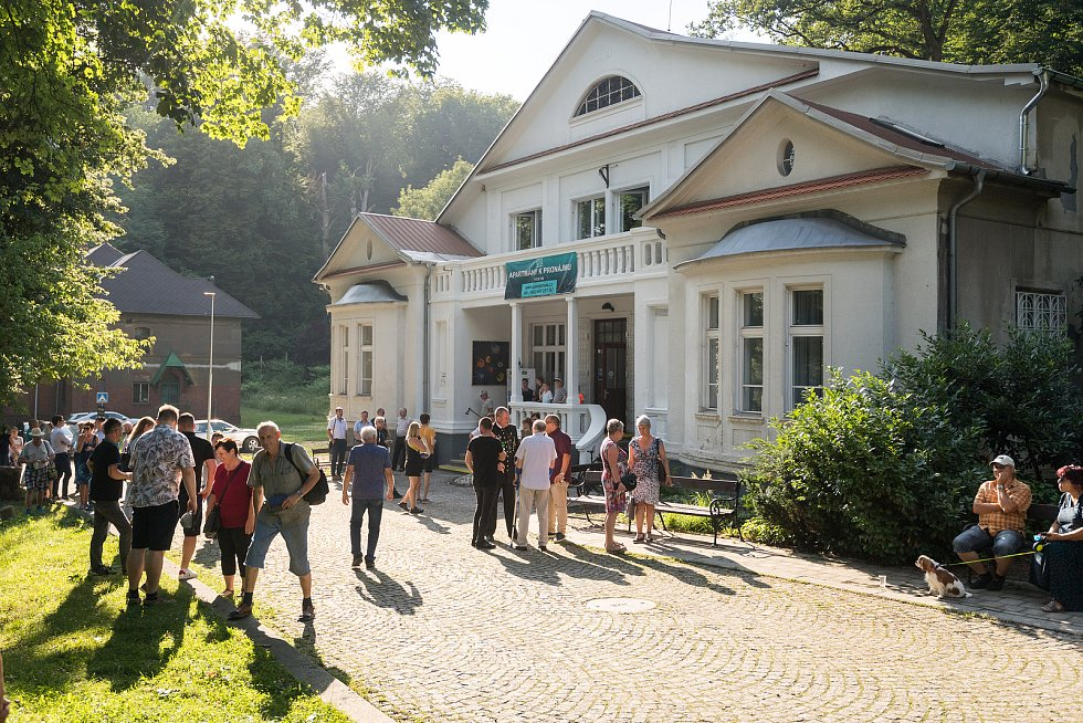 Otevření nově opravené bývalé ředitelské vily v areálu hornického muzea Landek Park veřejnosti, čtvrtek 15. července 2021 v Ostravě-Petřkovicích.