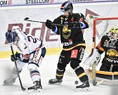26. kolo hokejové extraligy: HC Vítkovice Ridera - HC litvínov, 9. prosince 2018 v Ostravě. Na snímku (zleva) Rastislav Dej, Porseland Mathias a Janus Jaroslav.