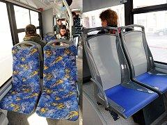 Textilní sedačky pomalu mizí z tramvají, nahrazují je plastové