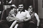 František Černík se synem Michalem a dcerou Andreou v době, kdy patřil k oporám reprezentace.