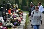 Ústřední hřbitov v Ostravě. Památka zesnulých.