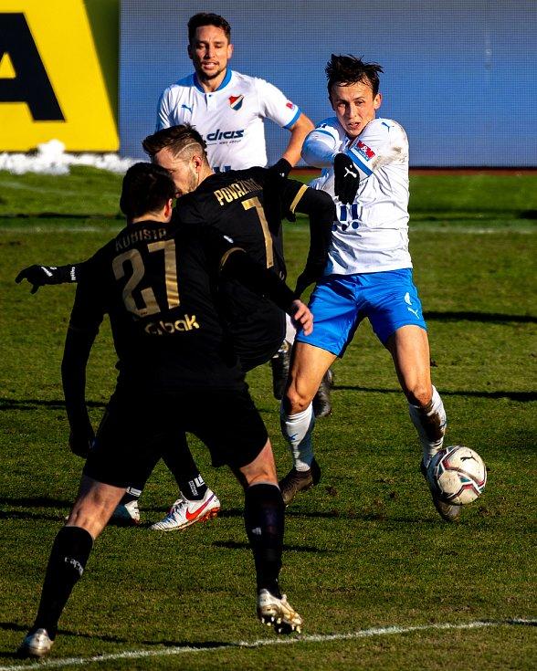 19. kolo utkání Fortuna ligy mezi FC Baník Ostrava a FK Jablonec. Daniel Tetour. 14. února 2021 v Ostravě - Vítkovicích.
